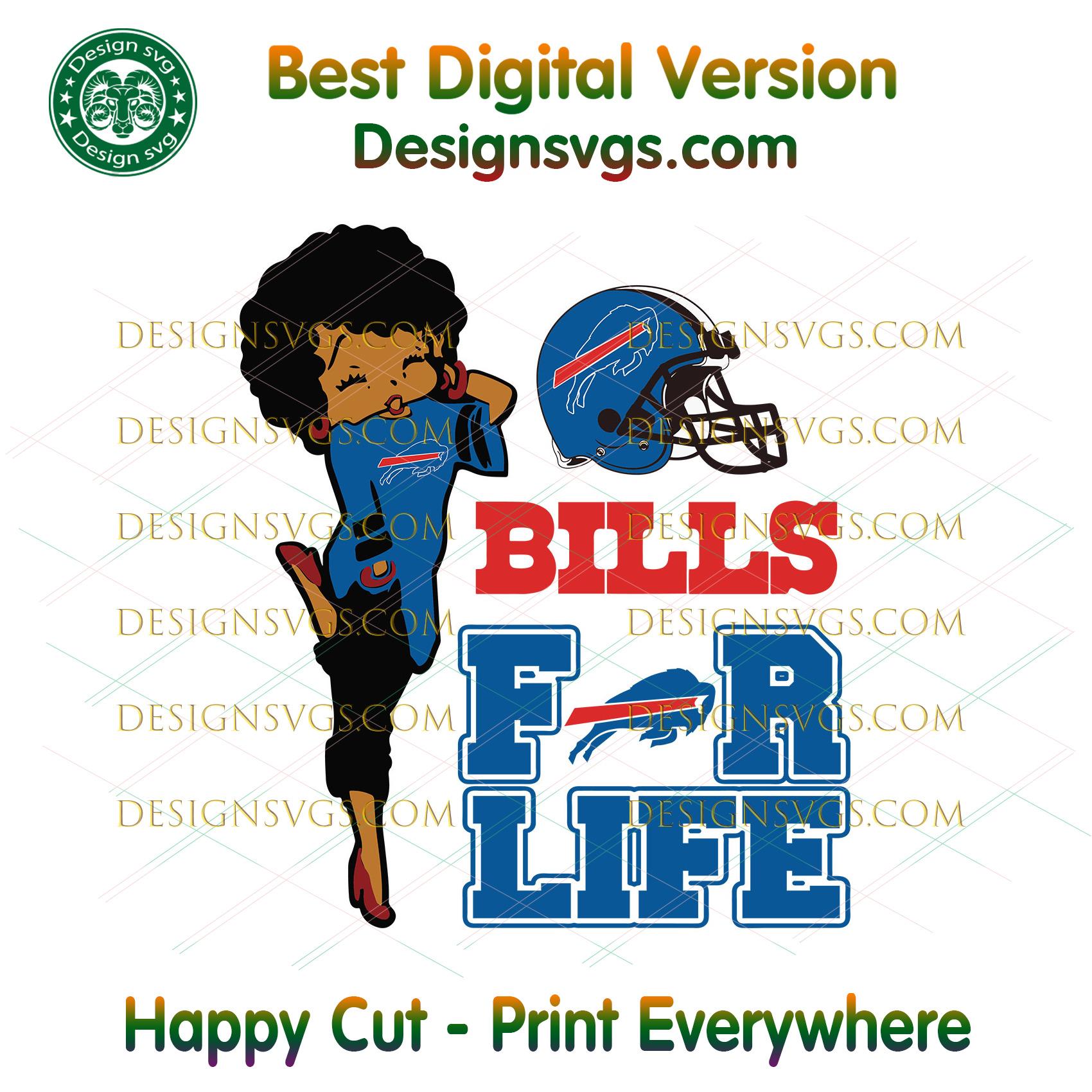 Buffalo Bills For Life Svg, Sport Svg, Buffalo Bills, Bills Svg, Bills Nfl,