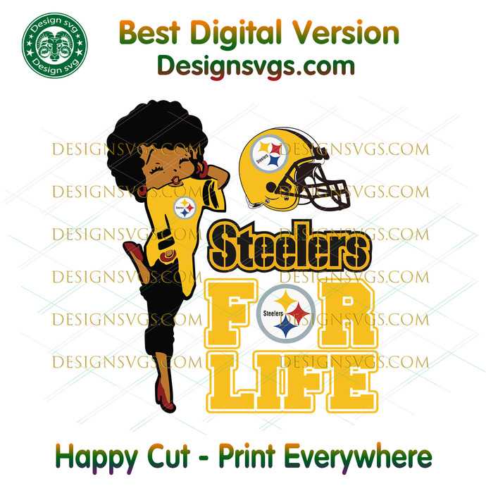 Pittsburgh Steelers For Life Svg, Sport Svg, Pittsburgh Steelers, Steelers Svg,