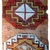 Handmade antique Turkish Konya collectible fragment 1.10' x 3.8' ( 58cm x 116cm