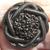 Vintage Brown Glass Button Medium Size