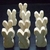 Pkg of 10 Rabbits  Unfinished Chunkie  Wood Cutouts WCO-63-5