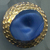 """Vintage Blue with Gold Luster Moonglow Medium 15/16"""""""