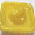 Vintage Yellow with Gold Luster Moonglow Medium Square