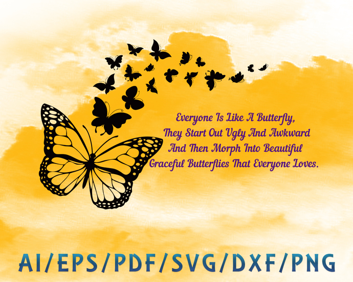 Butterfly and quotes