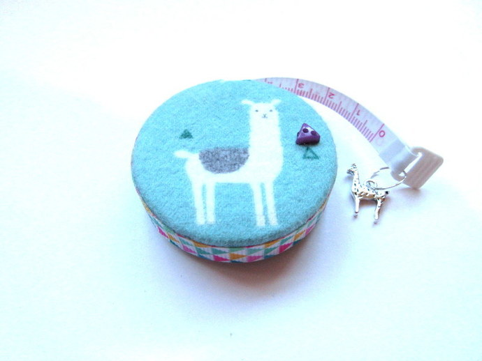 Tape Measure Sage Alpacas Llamas Small Retractable Measuring Tape