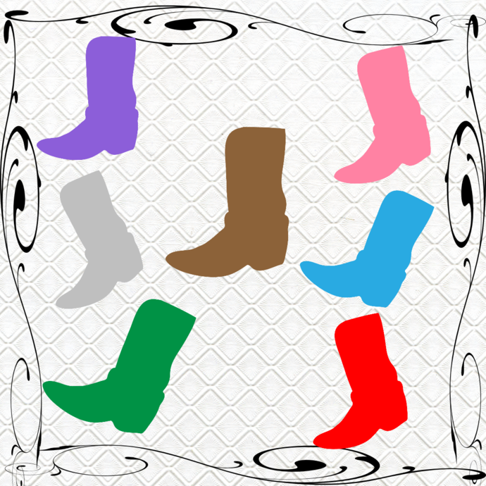Boots 1B-Digital Clipart-Art Clip-Gift Cards-Banner-Gift Tag-Jewelry-T
