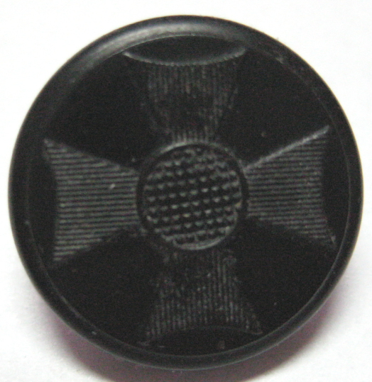 NBS Small Goodyear Rubber Cross button, very nice condition
