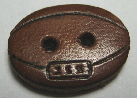 """Small 11/16"""" leather football realistic"""