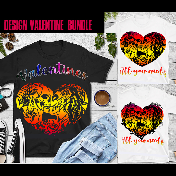 3 Bundle Valentines PNG, All You Need Is Love vector, Valentines PNG, Valentines