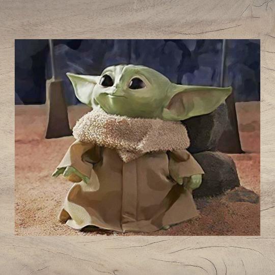 Watercolor Baby Yoda - Watercolor Star Wars - Star Wars - Baby Yoda - Watercolor