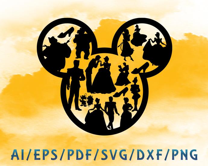Cinderella and mickey