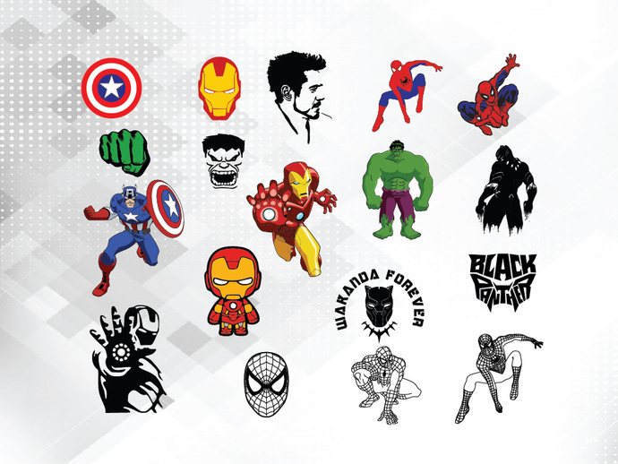 Superhero SVG Bundle, Superhero SVG, Marvel Cricut, Spiderman SVG