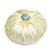 Lavender Sachet in Cream Dupioni Silk with Blue Button