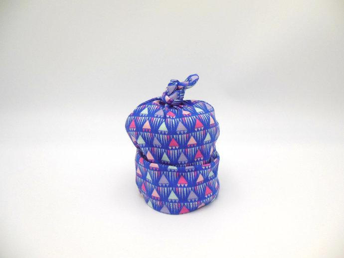 Purple Geometric Swaddle Sack, Purple Triangle Sleep Sack, Purple Baby Headband,