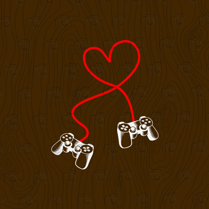 Game Controller, Gaming Gamer Valentines's Day, Gifts For Him Boyfriend, Heart