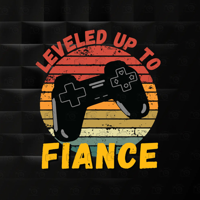 Leveled Up To Fiance, Funny Gaming, Newly Engaged Couple Gift, Gift For Gamer,