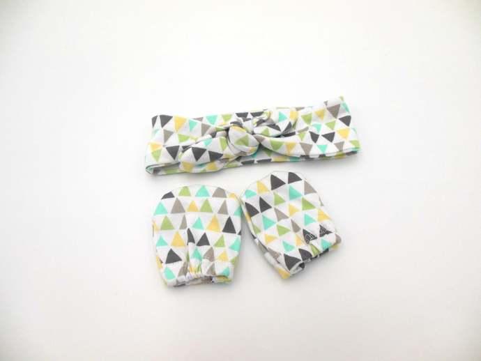Geometric Swaddle Sack, Pastel Triangles Sleep Sack, Geometric Tie Knot Baby