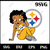 Pittsburgh Steelers Betty Boop svg,dxf, png, Pittsburgh Steelers girl