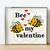 Bee my valentine cross stitch pattern Valentine's Day cross stitch pattern easy