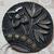 Antique Pewter Buckle Button Large Size