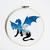 Dragon silhouette cross stitch pattern animal cross stitch chart landscape