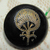Antique Japanned Lacquered Round Fan Button Small Size 11/16 inch