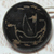 Antique Japanned Lacquered Ship Button Small Size 11/16 inch