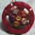 """Vintage Pierced Openwork Red Glass Button Medium 3/4"""""""