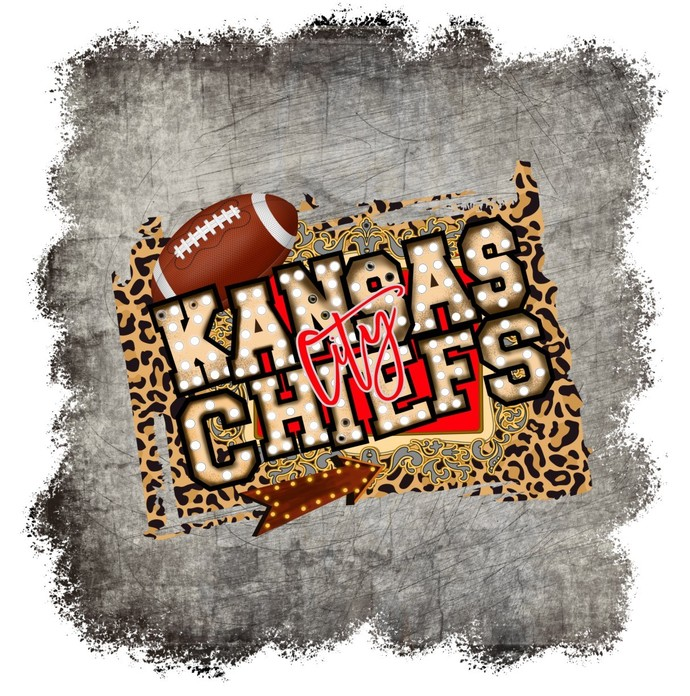 Kansas City Chiefs, Cheetah Print and football, NFL football, This is me KC,