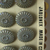 Orig. Card of Elegant Gray Glass Buttons with Luster Quantity 24