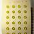 Orig. Card of Elegant Golden Yellow Glass Buttons Quantity 24 Sun Flower