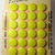Orig. Card of Elegant Bright Yellow Glass Buttons Quantity 24