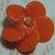 Small Vintage Orange Glass Flower Button