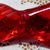 Vintage Red Glass Bow Button
