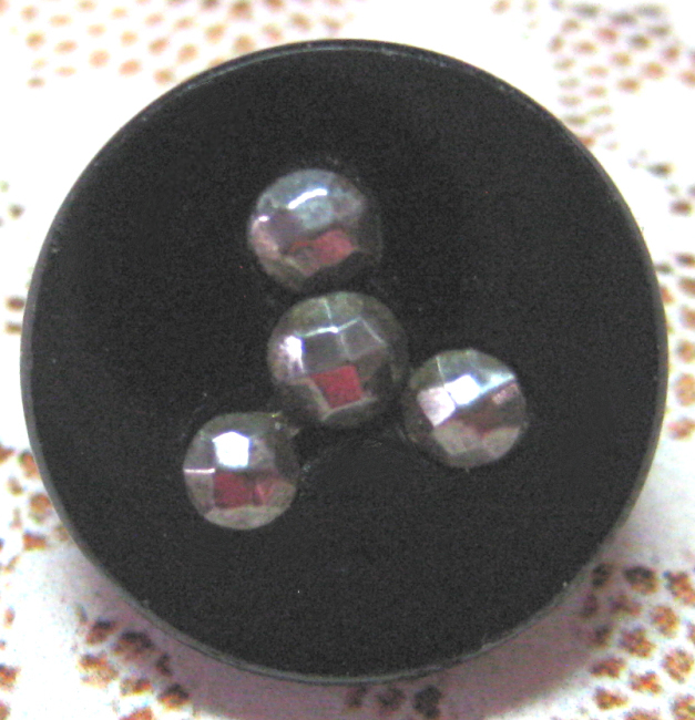 Small Black Glass with Cut Steels