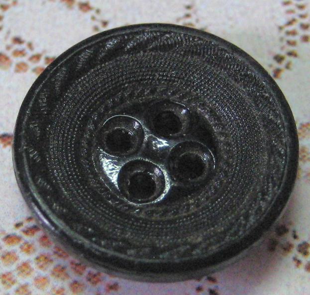 Small Black Glass Sew-thru