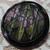 Pretty Black Glass Imitation Fabric Button
