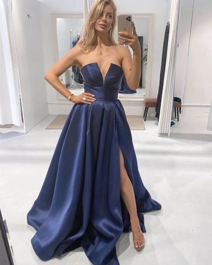 Elegant Sweetheart A-Line Prom Dresses,Long Prom Dresses,Cheap Prom Dresses,