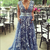 A-Line Deep V-Neck Sweep Train Lace Prom Dress with Belt
