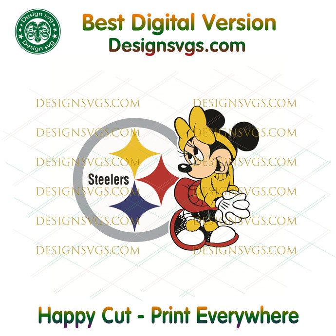 Pittsburgh Steelers Minnie Svg, Sport Svg, Football Svg, Football Teams Svg, NFL