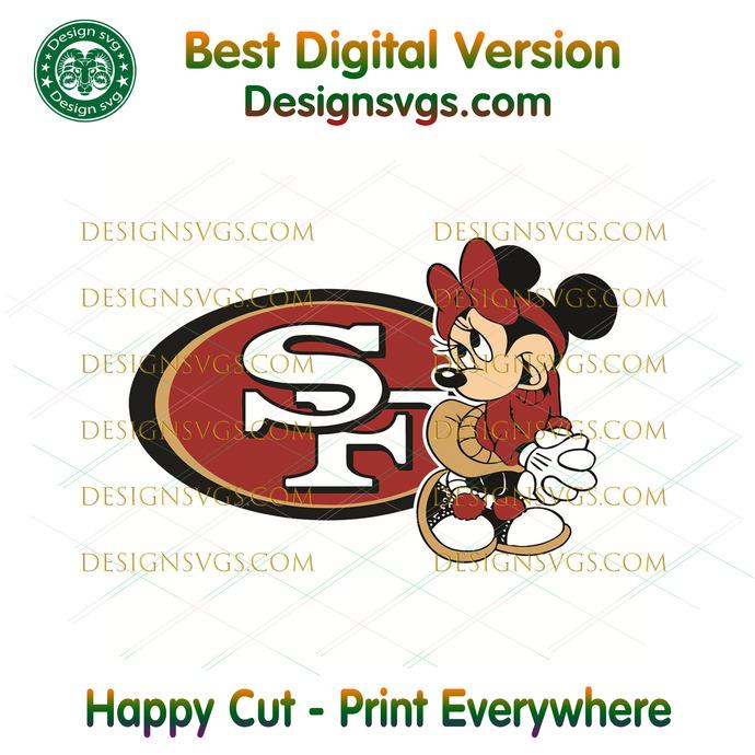 San Francisco 49ers Minnie Svg, Sport Svg, Football Svg, Football Teams Svg, NFL