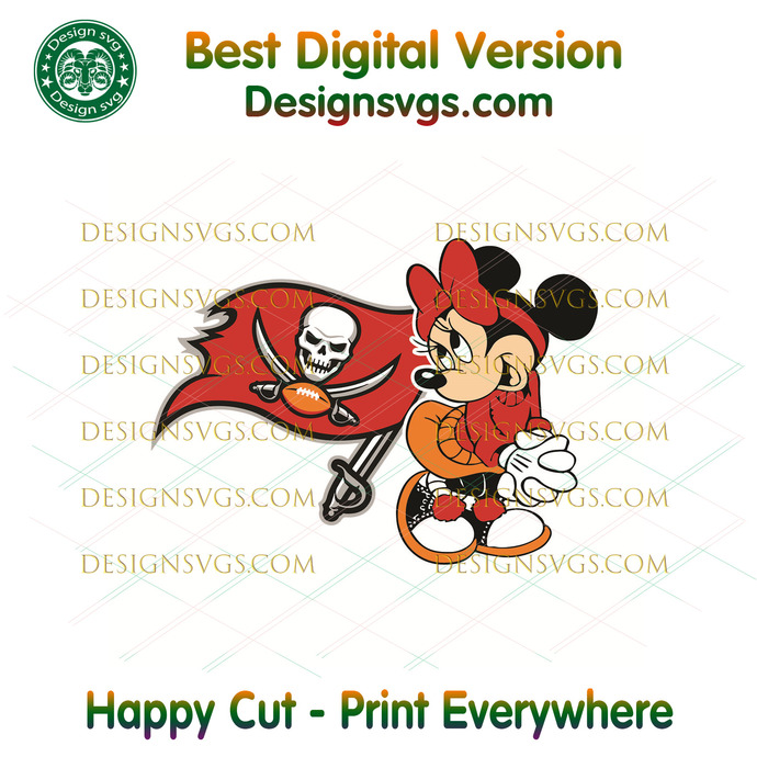 Tampa Bay Buccaneers Minnie Svg, Sport Svg, Football Svg, Football Teams Svg,