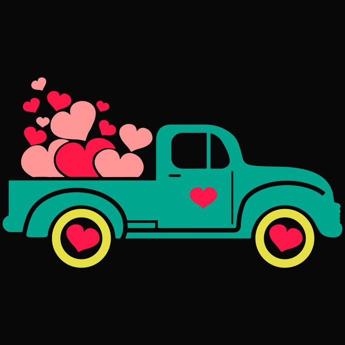 Truck vector, Truck love Svg, Valentines Svg, Valentines vector, Love Svg,