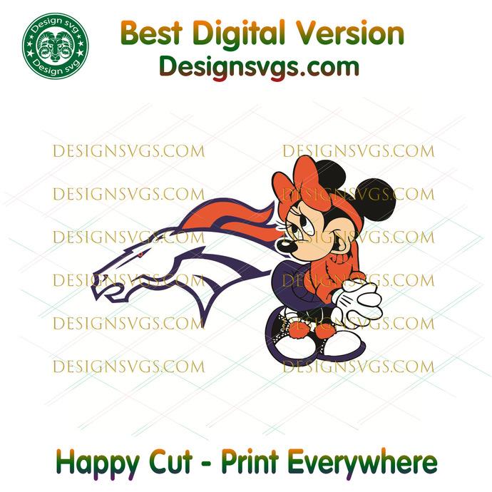 Denver Broncos Minnie Svg, Sport Svg, Football Teams Svg, Sport Teams, NFL Svg,
