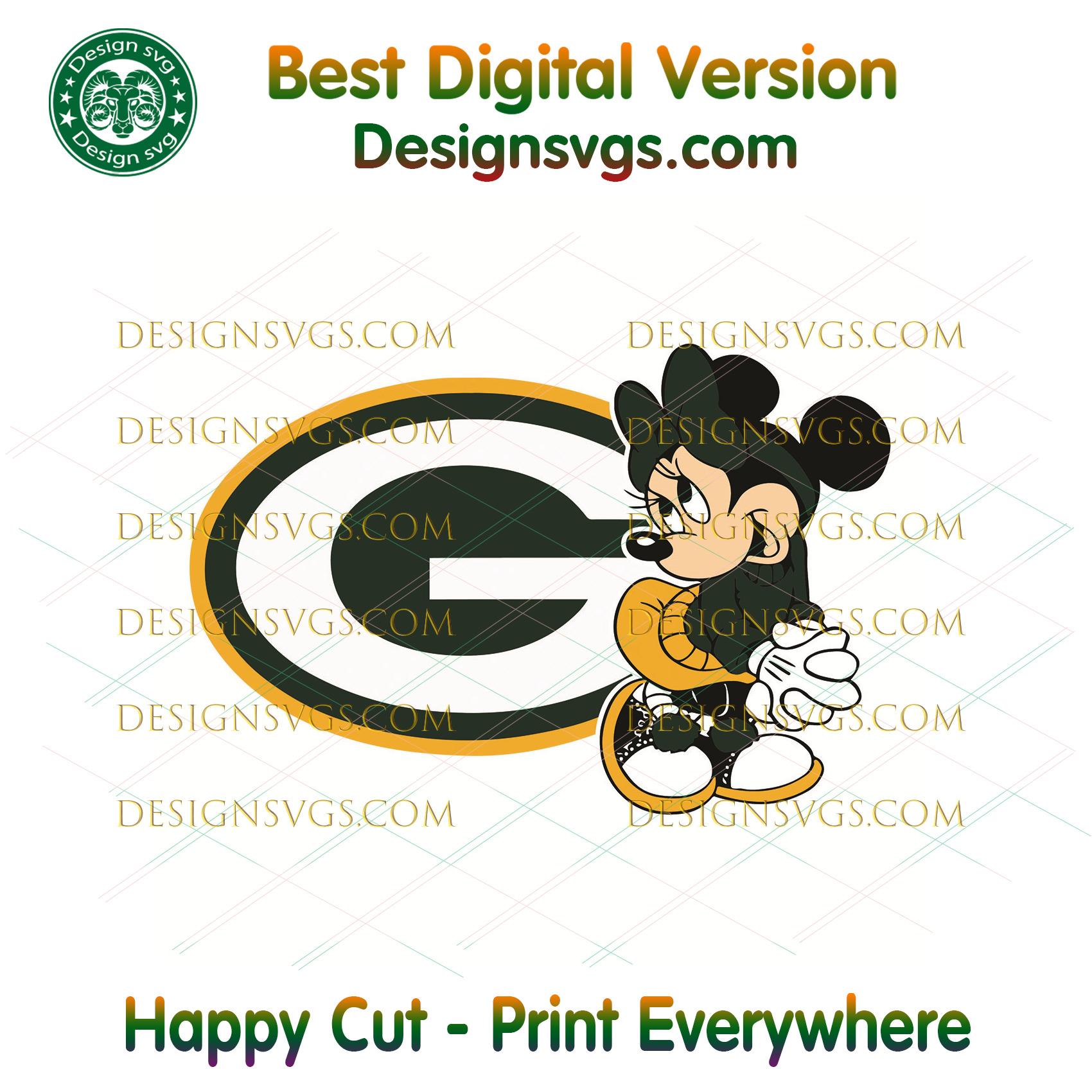 Green Bay Packers Minnie Svg, Sport Svg, Football Teams Svg, Sport Teams, NFL