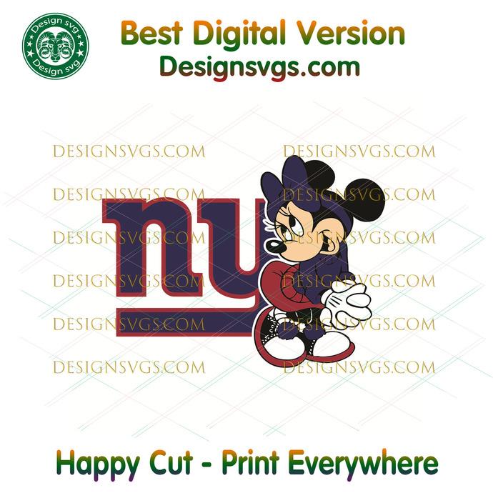 New York Giants Minnie Svg, Sport Svg, Football Teams Svg, Sport Teams, NFL Svg,