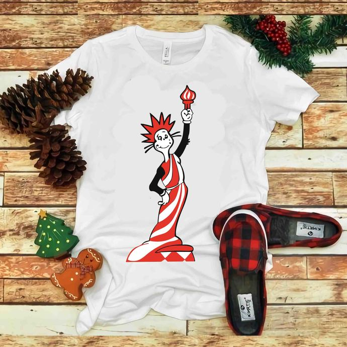 Cat in a liberty outfit Svg, Cat in The Hat vector, Funny Cat vector, Dr seuss
