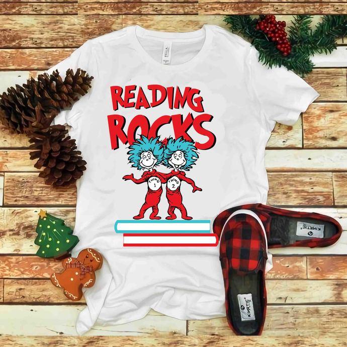 Reading Rocks Svg, Reading Rocks vector, Reading Rocks Png, Dr seuss vector, Dr