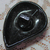 Pretty Vintage Black Glass Leaf Button NBS Medium 1 inch