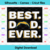 Best Dad Ever Los Angeles Chargers Svg, Sport Svg, Football Svg, Football Teams